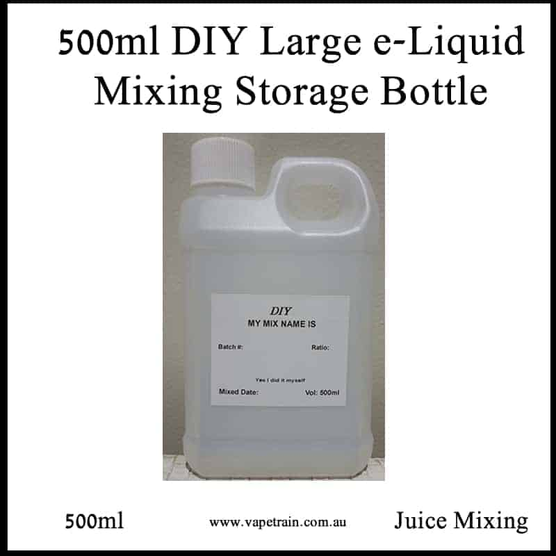 VTA 500ml Empty Bottle DIY e-Juice Mixing - Storage Steeping Jerrycan