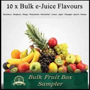 10 x Bulk Lot e-Juice Fruit Box Flavours