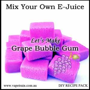 "Mix Your Own ""Grape Bubble Gum"" e-juice Recipe Flavour Pack DIY"
