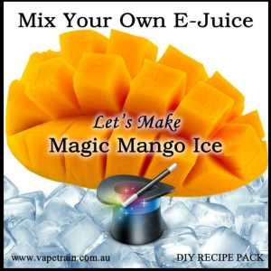"Mix Your Own ""Magic Mango Ice"" e-juice Recipe Flavour Pack DIY"
