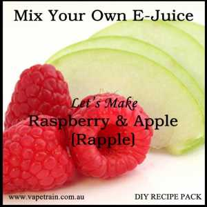 "Mix Your Own ""Strawberry & Apple"" Rapple e-juice Recipe Flavour Pack DIY"