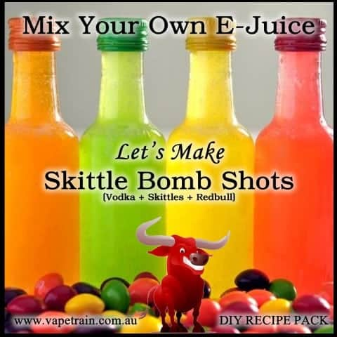 "Mix Your Own ""Skittle Bomb Shots"" e-juice Recipe Flavour Pack DIY"