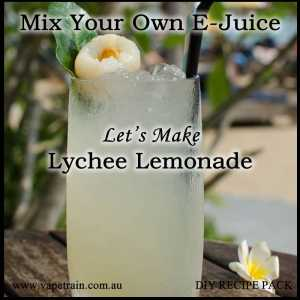 "Mix Your Own ""Lychee Lemonade"" e-juice Recipe Flavour Pack DIY"