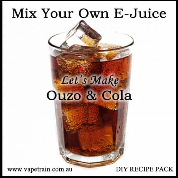 "Mix Your Own ""Ouzo & Coke"" e-juice Recipe Flavour Pack DIY"