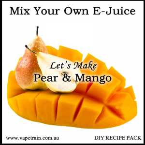 "Mix Your Own ""Pear & Mango"" e-juice Recipe Flavour Pack DIY"