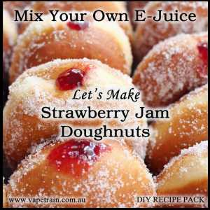 "Mix Your Own ""Strawberry Jam Donut"" e-juice Recipe Flavour Pack DIY"